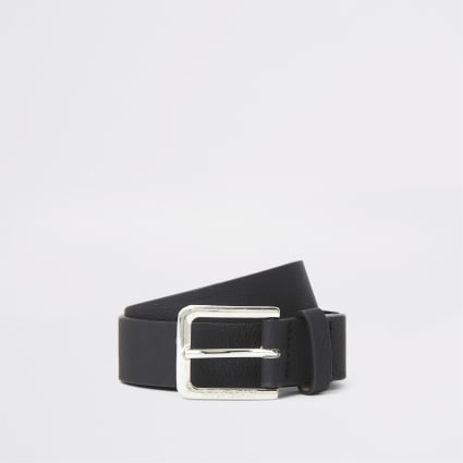 Boys black buckle belt