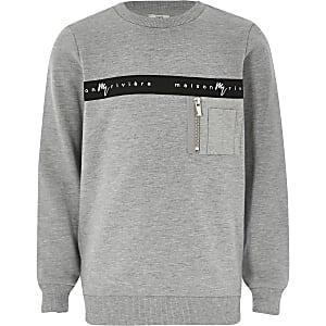 Maison Riviera - Sweatshirt für Jungen in Grau