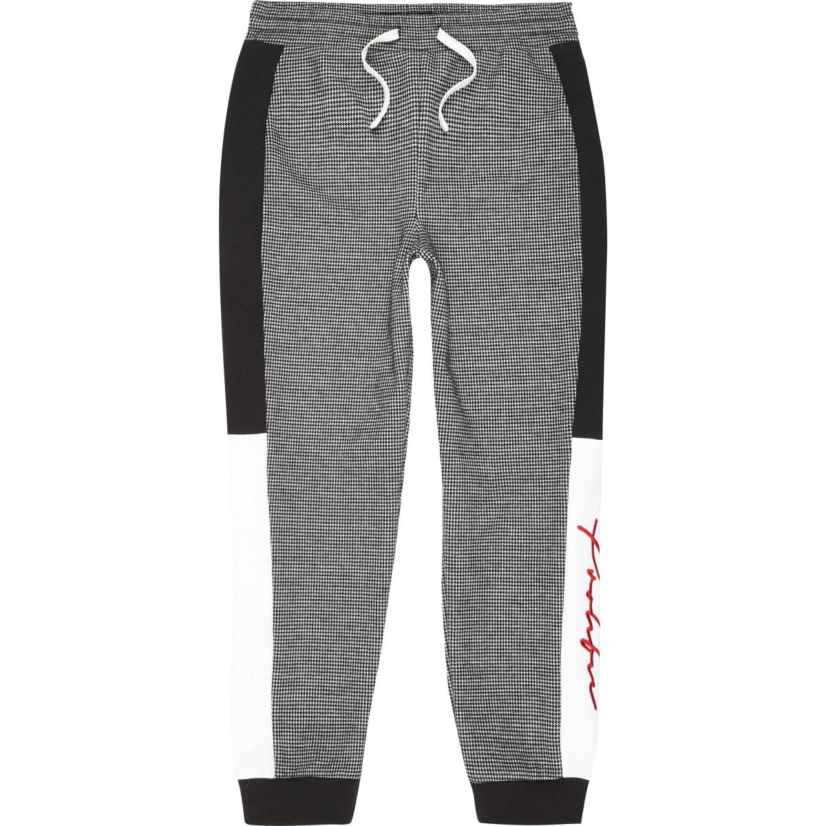 Boys black dogooth Prolific joggers