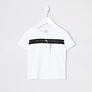 Maison Riviera - Mini - T-shirt met ritszak voor jongens