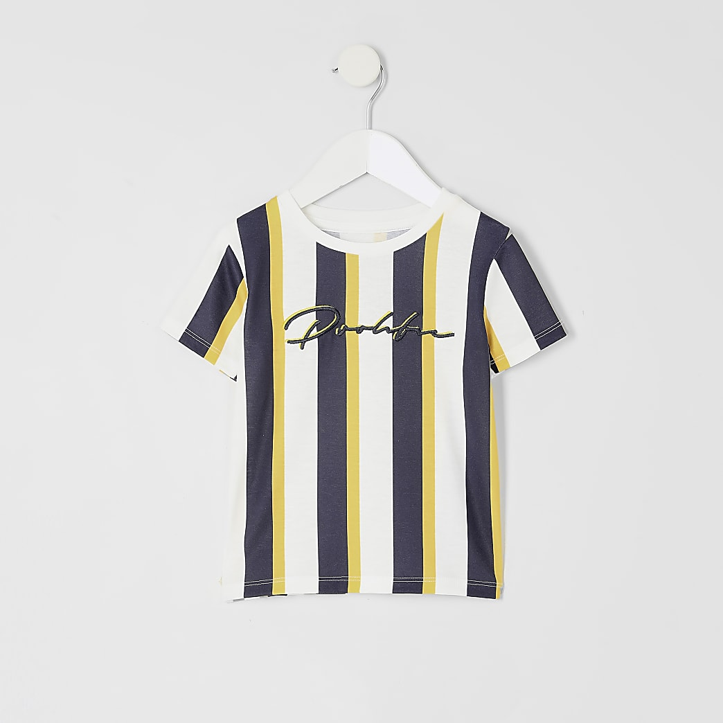 Mini boys yellow Prolific stripe T-shirt