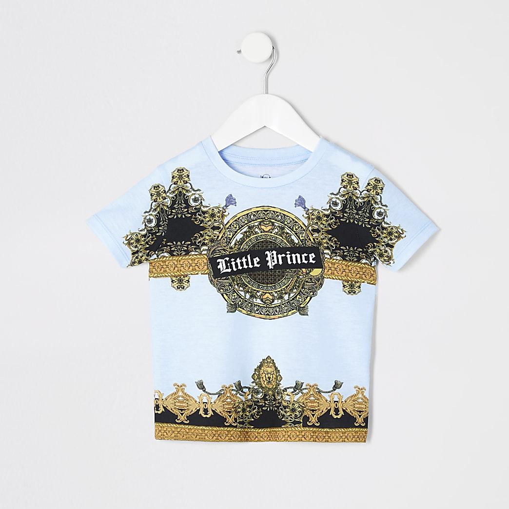 Mini - Blauw T-shirt met Little Prince-print voor jongens