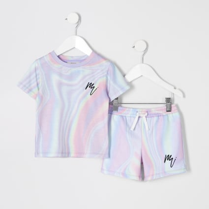 Mini boys pink marble mesh set