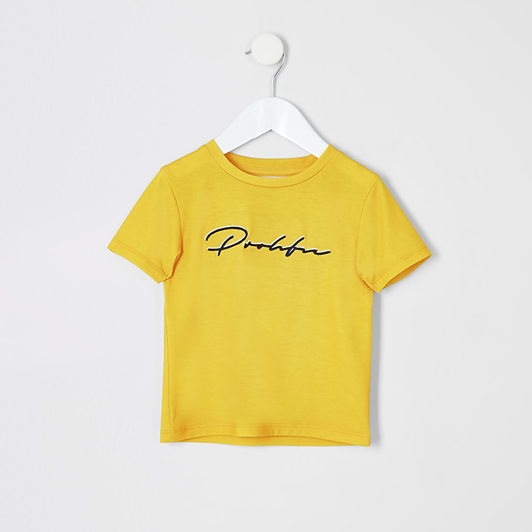 Mini boys yellow Prolific T-shirt
