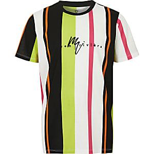 Gestreiftes T-Shirt in Rosa