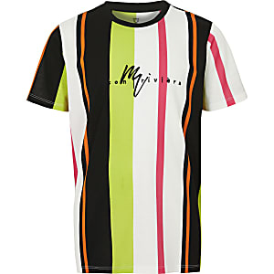Boys pink stripe T-shirt