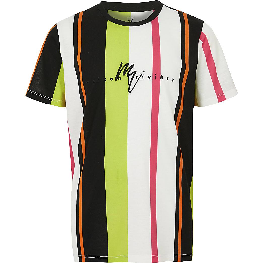 Boys pink stripe T-shirt