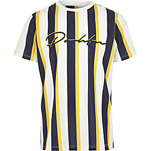 Boys yellow 'Prolific' stripe T-shirt