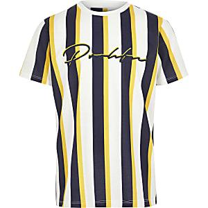 T-shirt « Prolific » rayé jaune pour garçon