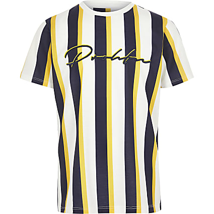 Boys yellow Prolific stripe T-shirt