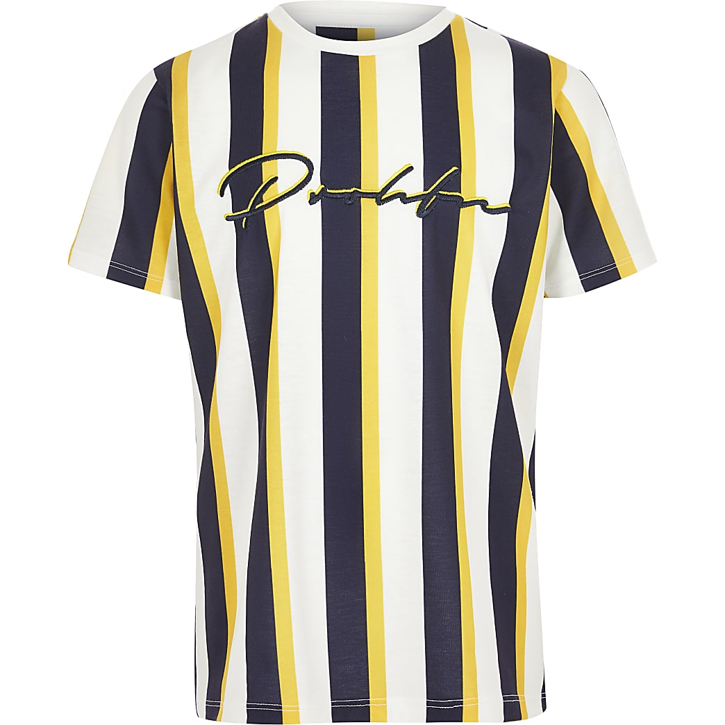 Boys yellow Prolific stripe T-shirt