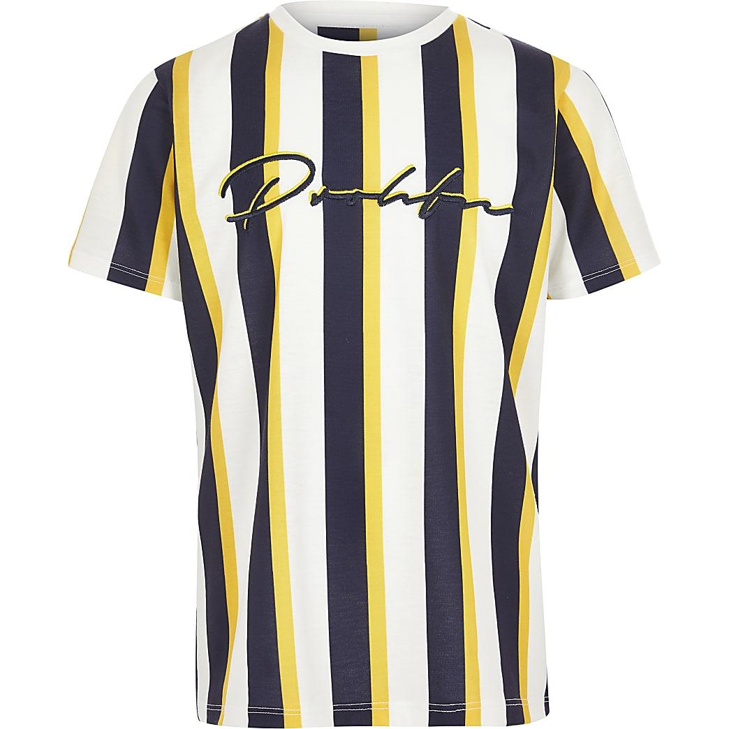 T-shirt Prolificrayé jaune pour garçon