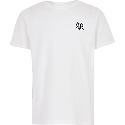 Boys white RI T-shirt