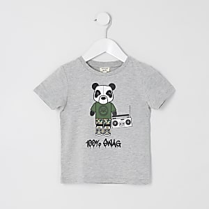Mini boys grey '100% swag' T-shirt
