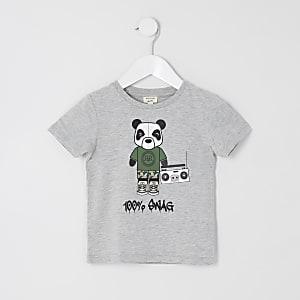 Mini - Grijs '100% swag' T-shirt voor jongens