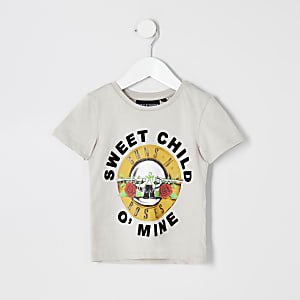 Mini - Kiezelkleurig T-shirt met Guns N Roses-print voor jongens
