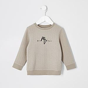 Maison Riviera steingraues Sweatshirt für kleine Jungen