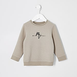 Maison Riviera - Kiezelgrijs sweatshirt voor mini-jongens