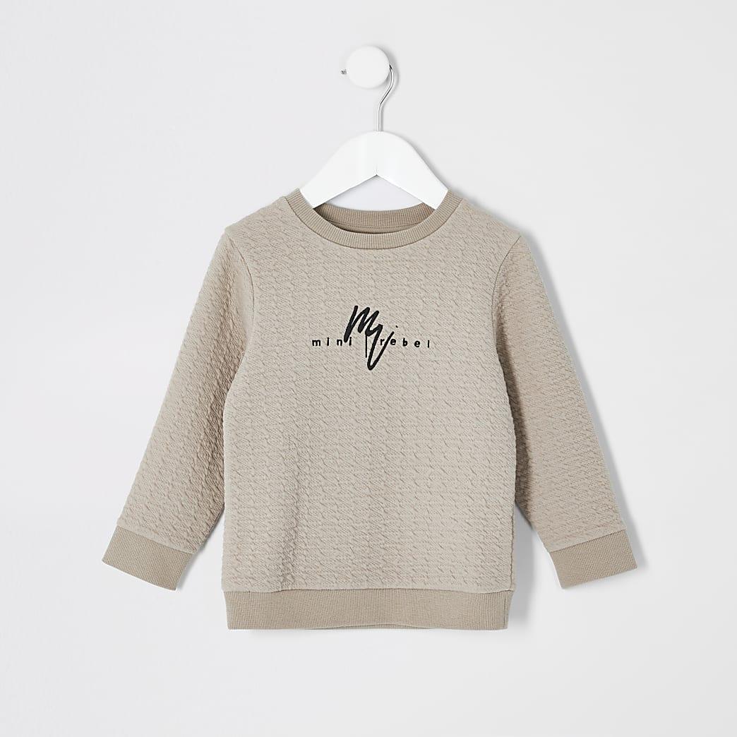 Mini boys stone Maison Riviera sweatshirt