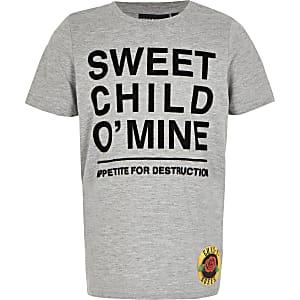 Grijs T-shirt met Guns N Roses-print voor jongens