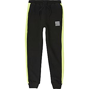 Criminal Damage - Zwarte joggingbroek met kleurvlakken voor jongens
