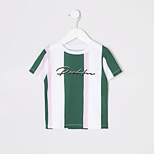 Prolific- Groen gestreept T-shirt voor mini-jongens