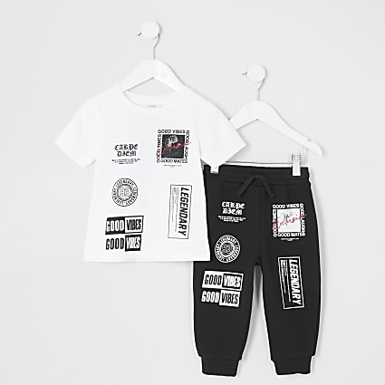 Mini boys 'Good vibes' jogger outfit