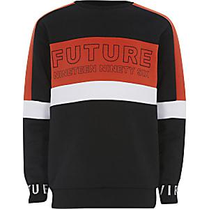Rood 'Future' sweatshirt met kleurvlakken voor jongens