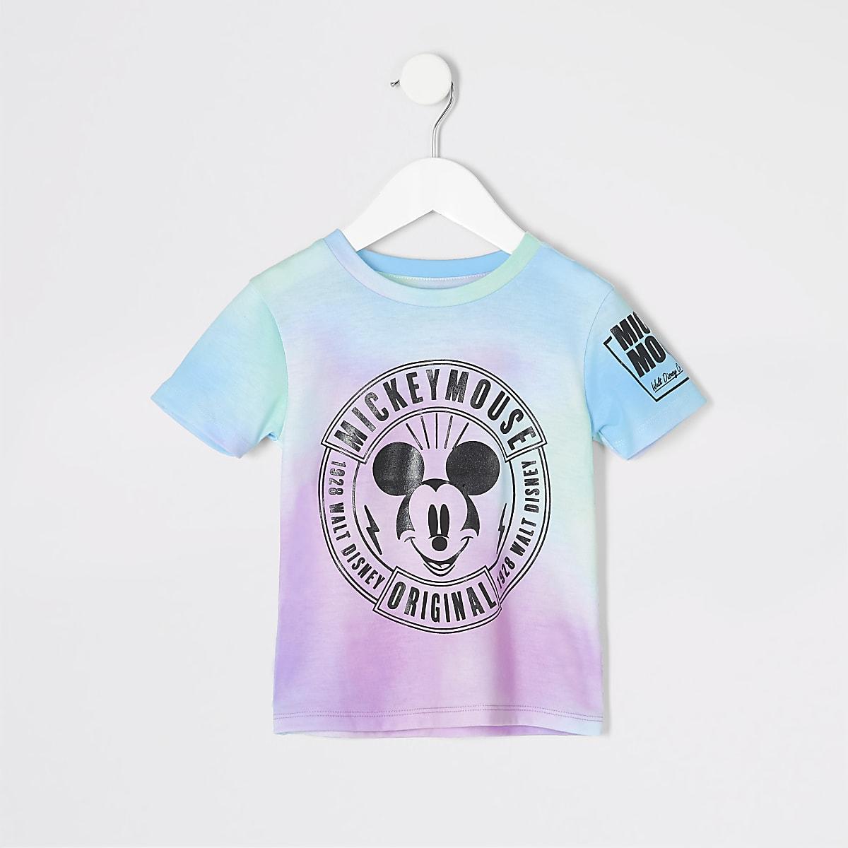Mini boys pink tie dye Mickey Mouse T-shirt
