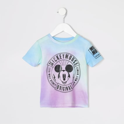 Mini boys pink tie dye Mickey Mouse T-shirt