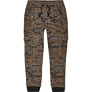 Pantalon de jogging marron imprimépour garçon