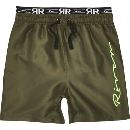 Boys khaki 'River' swim shorts