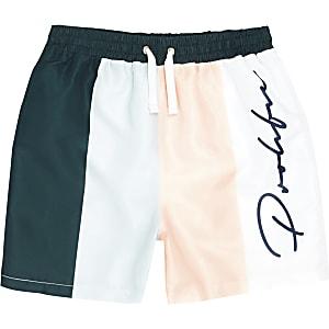 Shorts de bain bleu pastel avec bande Prolific pour garçon
