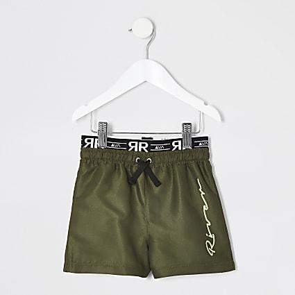 Mini boys khaki RI utility swim shorts
