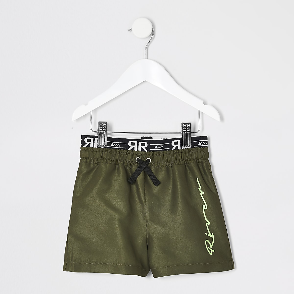 Mini boys khaki RI utility swim shorts