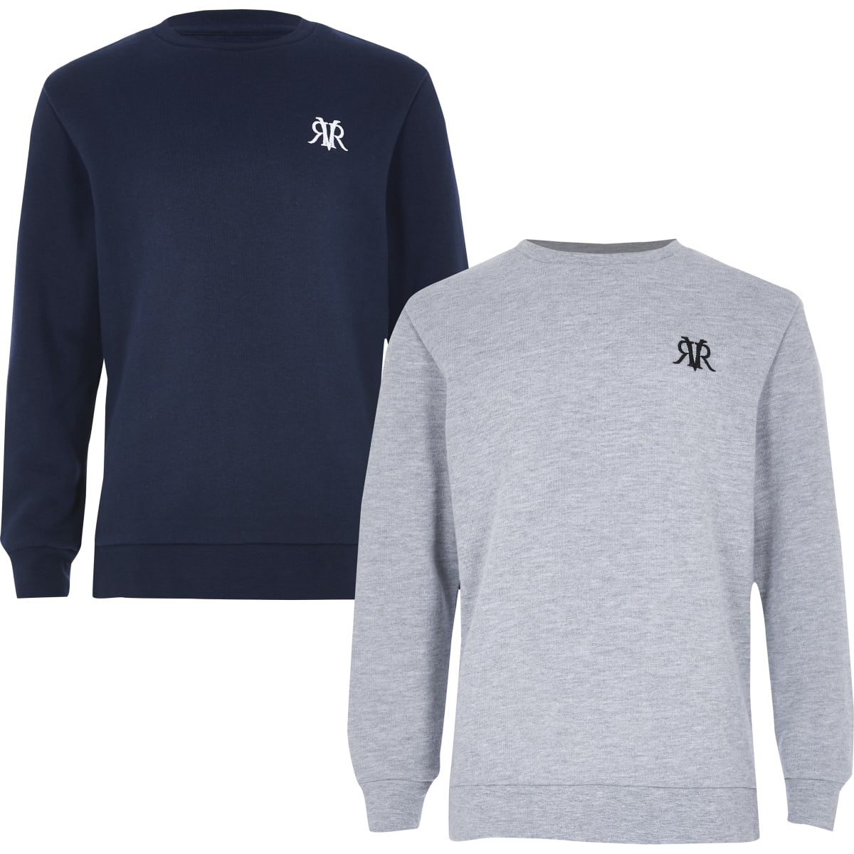 Boys navy and grey sweatshirt multipack