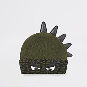 Bonnet dinosaure kaki Minigarçon