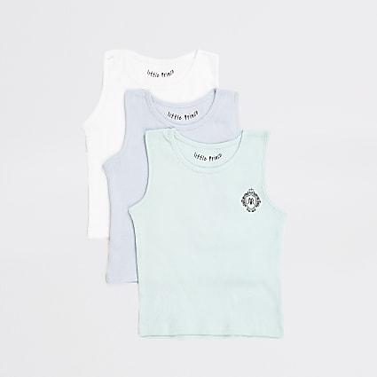 Mini boys multicoloured vests 3 pack