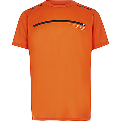 Boys RI Active orange STN printed T-shirt
