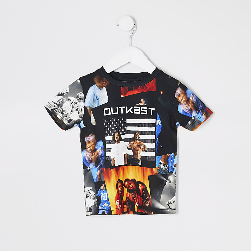 Mini boys Outkast print T-shirt
