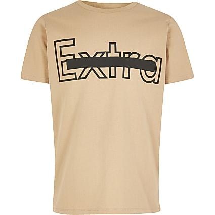 Boys stone 'Extra' T-shirt