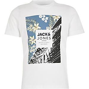 Jack and Jones - Wit T-shirt met print voor jongens