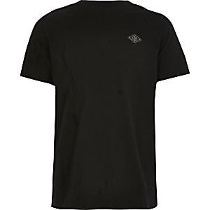 T-shirt noir avecécusson RIR pour garçon