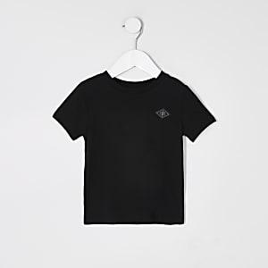 Mini – Schwarzes T-Shirt mit RIR-Aufnäher für Jungen