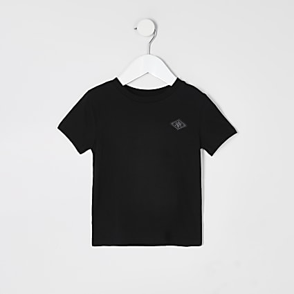 Mini boys black RIR badge T-shirt