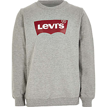 Boys Levi's grey logo sweatshirt