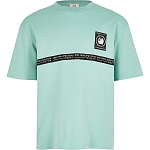 RI Active – T-shirt à bande vert menthe pour garçon