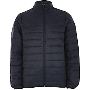 Jack and Jones - Marineblauwe gewatteerde jas voor jongens