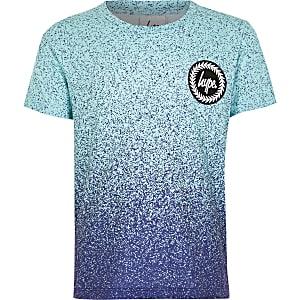 Hype – T-shirt imprimé moucheté bleu pour garçon