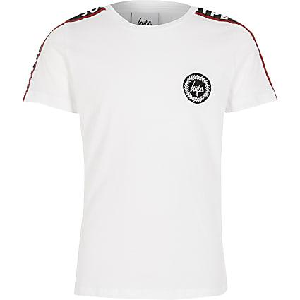Boys Hype white tape short sleeve T-shirt
